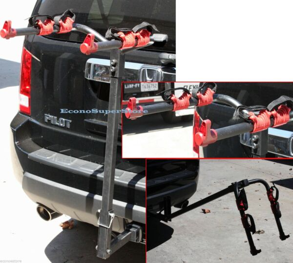 Hitch Mounted Two 2 Bike Bicycle Rack Carrier Standard Hitch Receiver Mount $59.99
