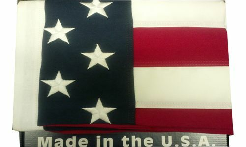 30' X 50' American Flag Made In The USA Embroidered 2 Ply Polyester