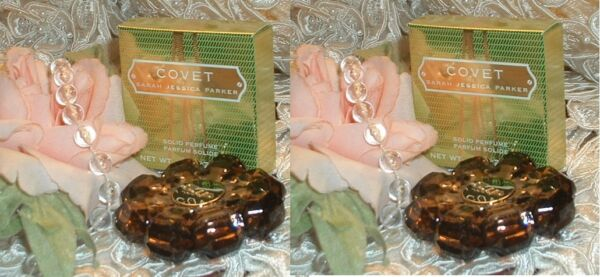LOT ~ COVET Sarah Jessica Parker ~ SOLID PERFUME .08 oz / 2,3g EACH New in Boxes