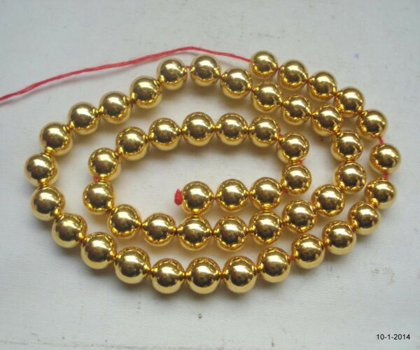 22K gold beads necklace bracelet elemants 50 pcs. handmade
