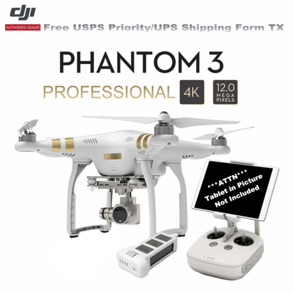 DJI Phantom 3 Professional RTF Quadcopter RC Drone W/4K Camera 3-Axis Gimbal US