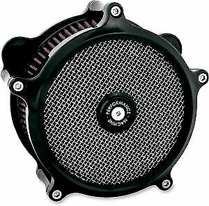 Performance Machine PM Black Super Gas Stage 1 Air Cleaner Harley FLH TBW 08 16