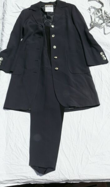 VINTAGE MOSCHINO JEANS WOMANS CLOTHING ITALIAN MADE JACKET PANTS MOD YING YANG $200.00