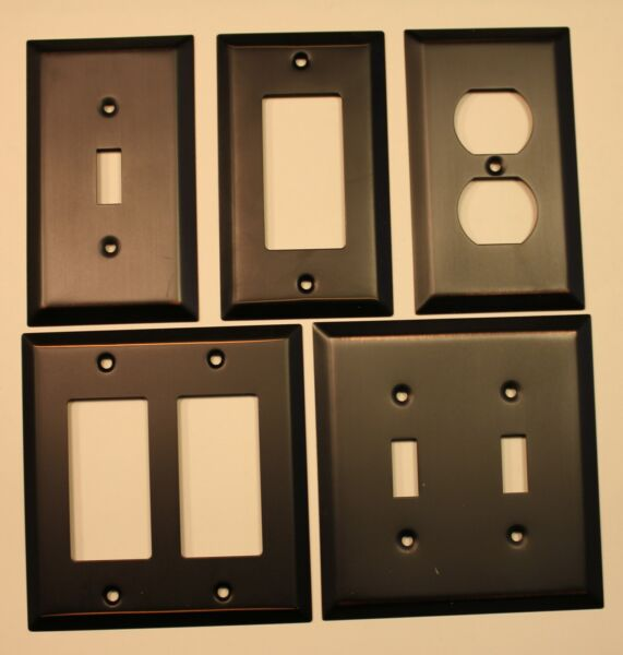 Switch Plate Outlet Cover Wall Rocker Oil Rubbed Bronze Retail Packaged NEW $4.45