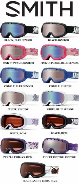 SMITH GAMBLER YOUTH  KIDS SNOW  BOARD  SKI GOGGLE  COLORS. NEW SALE PRICE!
