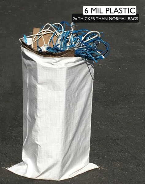 (1000) Reusable Contractor Bags - 6 Mil - 25