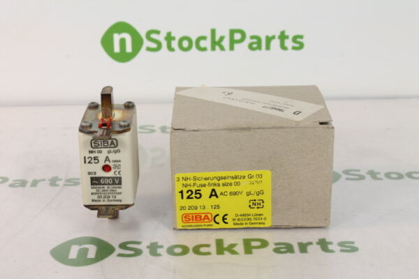 SIBA NH-125A-AC-690V-3PACK 2020913.125 3 PACK NSFB - FUSE 125 AMPS 690 VOLTS