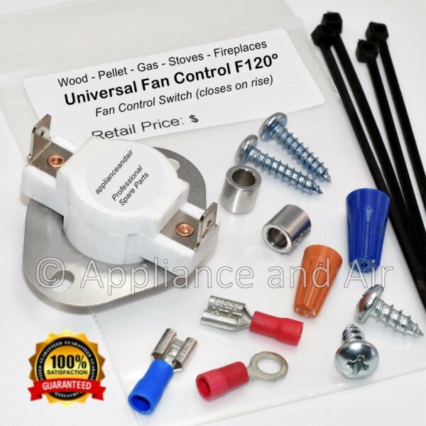 F120 CERAMIC Wood Pellet Stove Low Limit Blower Fan Switch Tips amp; Instructions $22.95