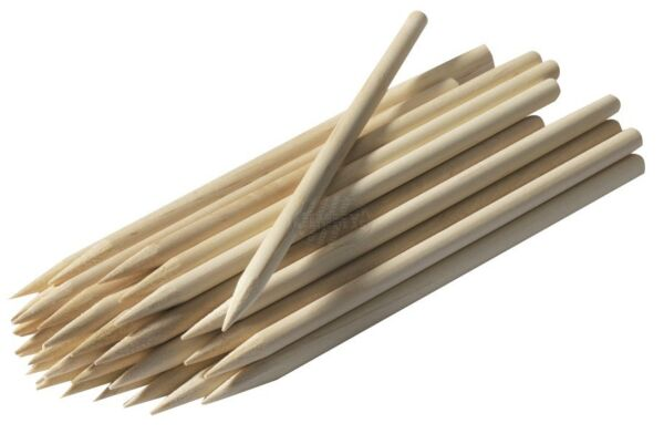 CARAMEL CANDY APPLE CORN DOG STICKS 100ct Pointed Wood Skewers Dowels 8quot;x1 4 $7.49