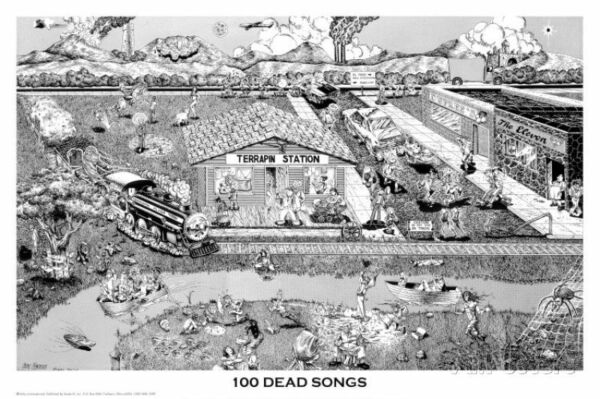 GRATEFUL DEAD - 100 DEAD SONGS POSTER - 24x36 SHRINK WRAPPED - COLLAGE 7820