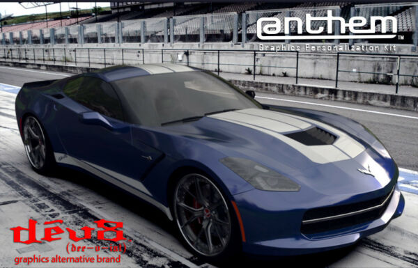Raceskinz® Chevy Corvette Sting Ray Stripe Kit DêV8 Anthem Premium