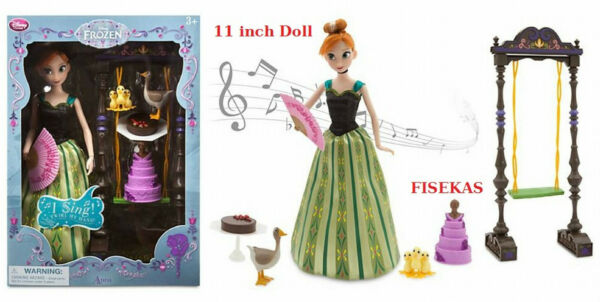 Disney Store Exclusive Singing Anna Deluxe Doll Set 11 in Frozen NEW 2014