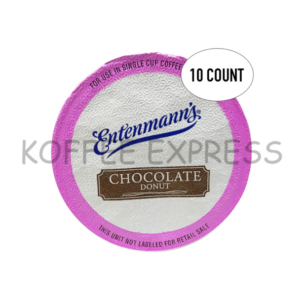 K CUPS FOR KEURIG CHOCOLATE DONUT ENTENMANN#x27;S COFFEE 10 CT