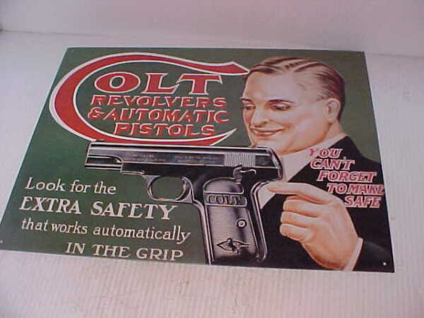 Colt Revolvers and Automatic Pistols sign  #8