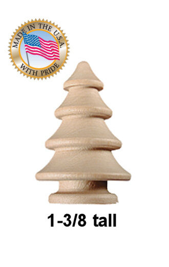 10pcs 1 3 8 Round wooden CHRISTMAS TREE craft unfinished wood trees