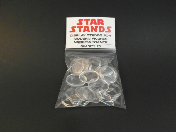 20 x Small Disc Star Wars MODERN action figure DISPLAY STANDS - EP1 onwards T3c