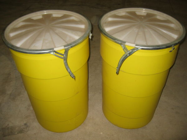 ULTRA OVERPACK 526 Salvage Drum 55 gallon Locking Lid Yellow Pack of 2 $74.98