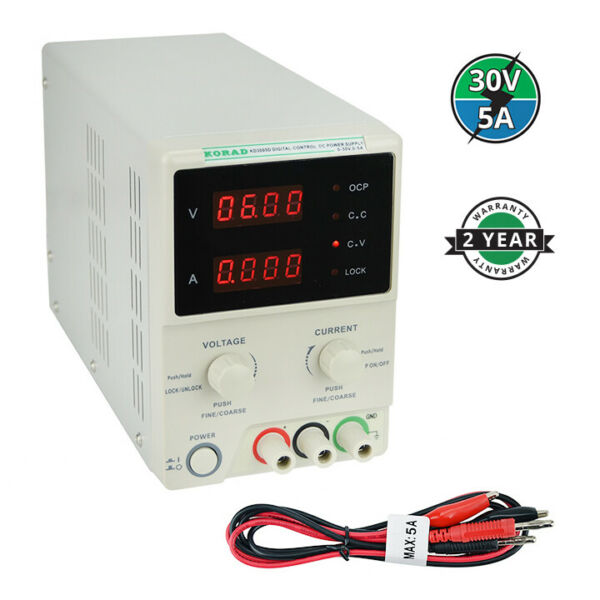 KORAD KD3005D - Precision Variable Adjustable 30V 5A  DC Linear Power Supply...