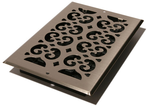 Decor Grates SP612W-NKL Wall Register 6-Inch by 12-Inch Nickel
