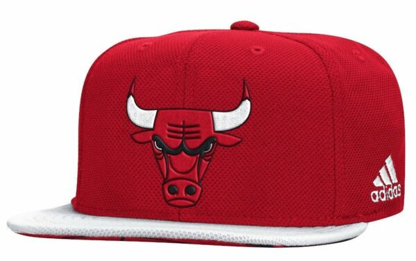 Chicago Bulls Authentic Draft Hat NBA Adidas Official On Court Snapback Cap