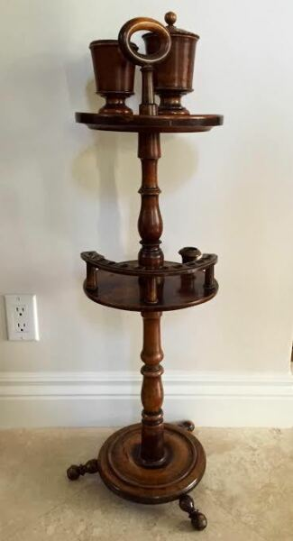 English Treen Late 19th Century Smoking Stand