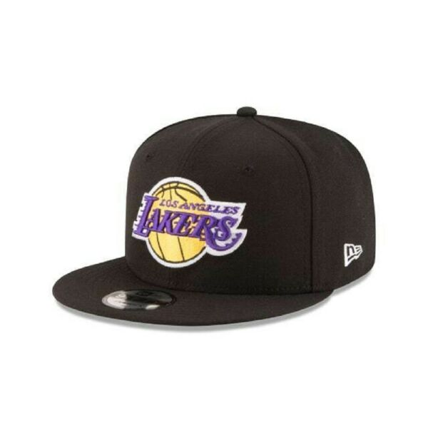 Los Angeles Lakers New Era 9Fifty Basic Black OTC Adjustable Snapback Hat Cap