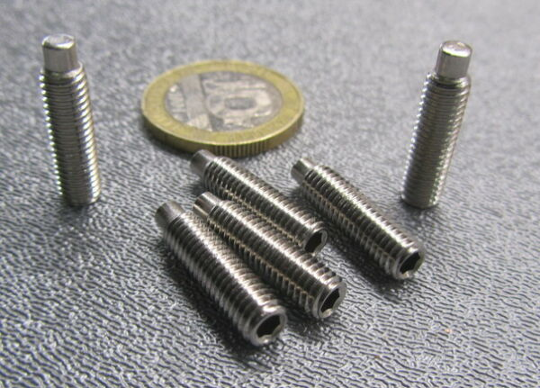 Stainless Dog Point Set Screws Extended Tip M5 x 0.8 x 20 mm Length 50 Pcs $30.14