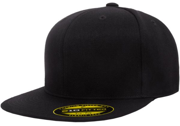 6210T New Flexfit Premium Flatbill Fiited Baseball Cap 210 Flat Bill Black Hat