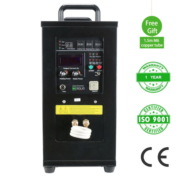 15KW High Frequency Induction Heater Furnace 110-140 V 30-80 KHz