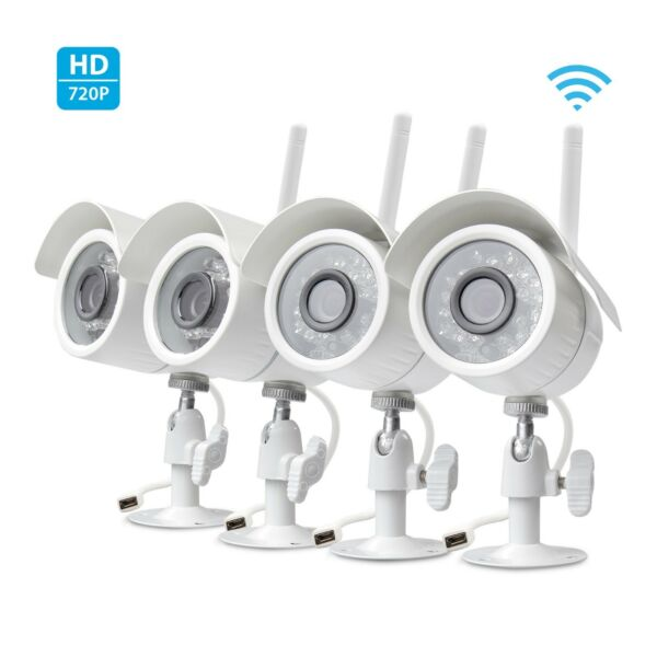 Zmodo 4 CH NVR Wireless Audio Indoor Home Video Security Camera System 500GB HD