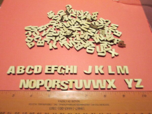 130 Small Laser Cut Wood Letters 12