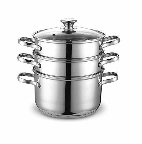 NEW Cook N Home NC-00313 Double Boiler and Steamer Set Stainless Steel