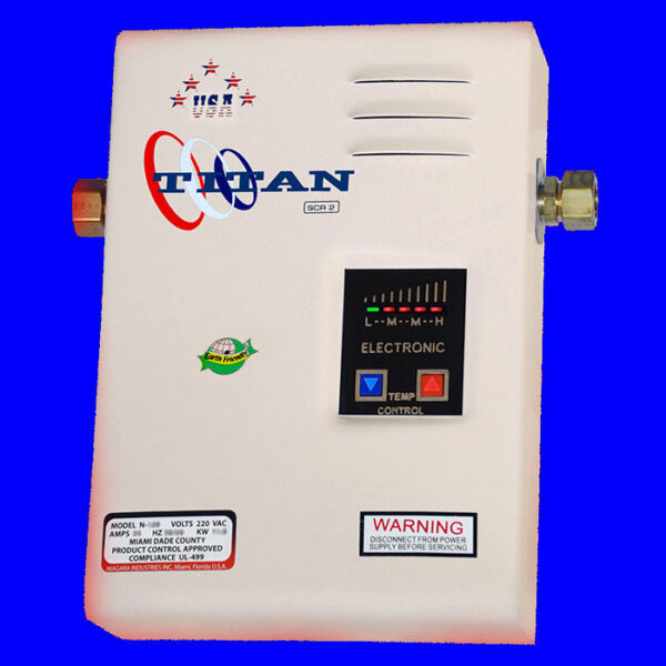 Titan Tankless N-120 Hot Water Heater 220V with FREE same day shipping. NEW