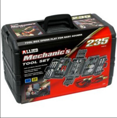 NEW! Mechanics 235-Piece Tool Set Fold Out Case Car Garage Toolbox Repair Kit