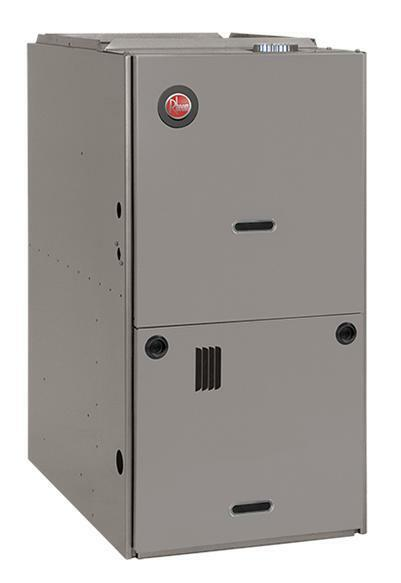 Rheem 80% AFUE 100000 BTU Two-Stage Variable Speed Downflow Gas Furnace