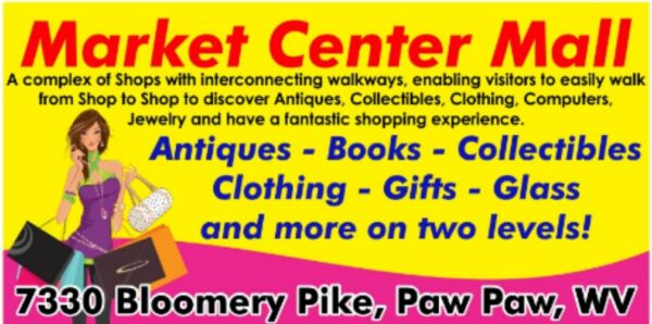 MALL of 8 Shops of Antiques~Books~Gifts~Clothing~Vintage Odds & Ends & FREE RENT
