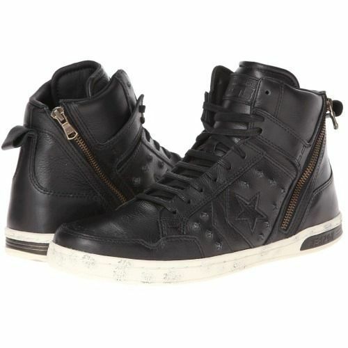 Converse X John Varvatos Black Tutle Leather JV Weapen Hi Top Sneakers Shoes