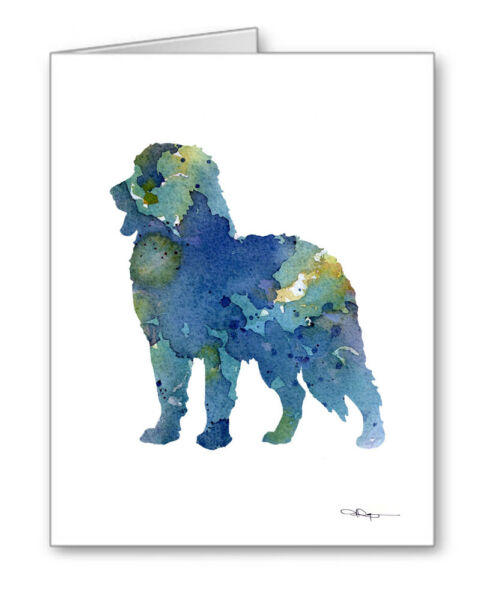 BLUE BERNESE MOUNTAIN DOG note cards by watercolor artist DJ Rogers