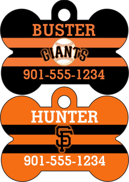 San Francisco Giants Custom Pet Id Dog Personalized w Name amp; Number $12.97