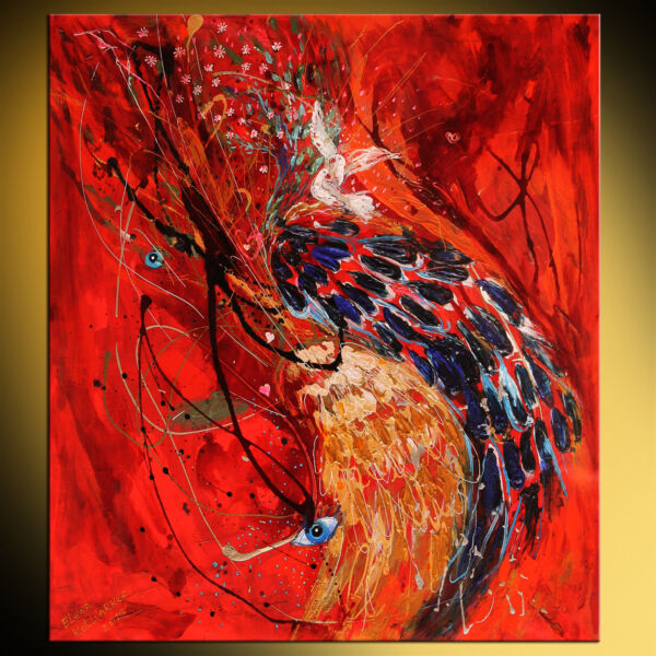 The Angel Wings series #6 The duality of truth. Palette knife abstract painting