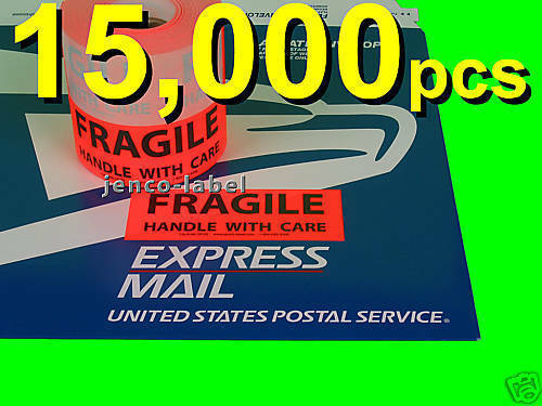 ML1R103 15000 1-12x4 Fragile LabelsSticker