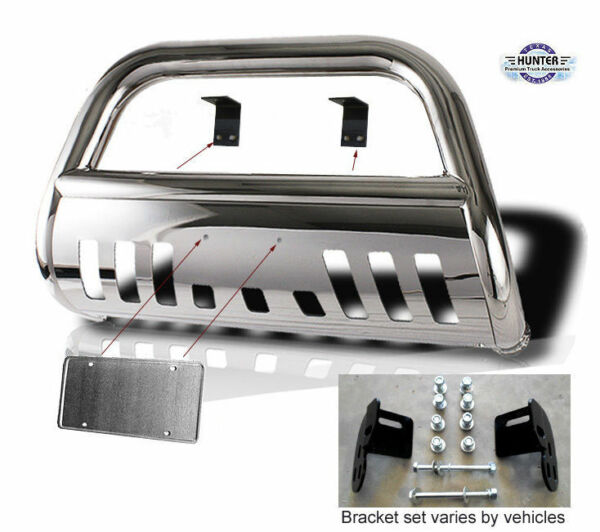 1998-2004 Toyota Tacoma Hunter Classic Bumper Push Bull Bar in Stainless Steel