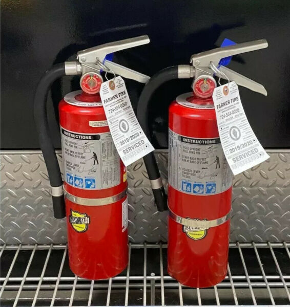 FIRE EXTINGUISHER 5lb Abc Scratch amp; Dirty Set of 2