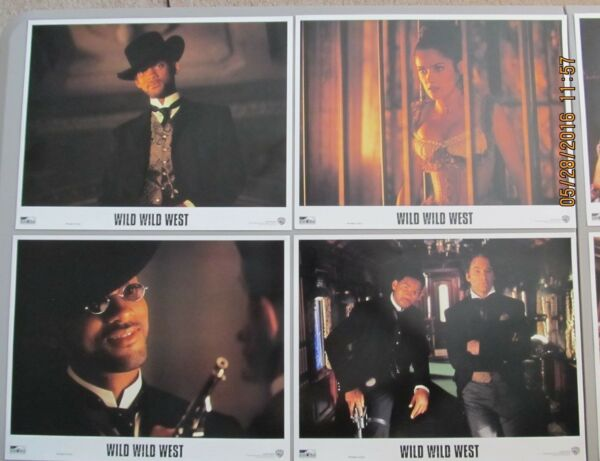 WILD WILD WEST 11X14 LOBBY CARD SET OF 8 1999 WILL SMITH SALMA HAYEK NEAR MINT