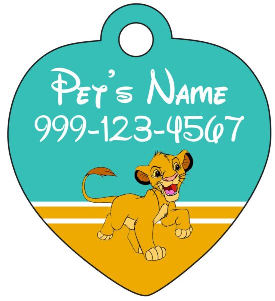 Simba Disney Lion King Pet Id Tag for Dogs amp; Cats Personalized for Your Pet $12.97