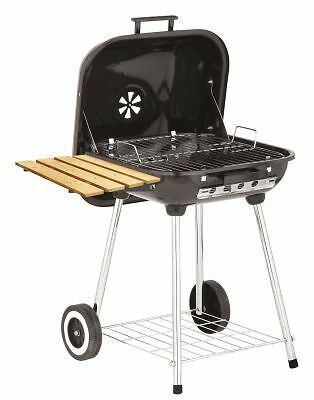 Marsh Allen Deluxe Covered Brazier Charcoal Wheeled Grill with Shelf 22 $78.15