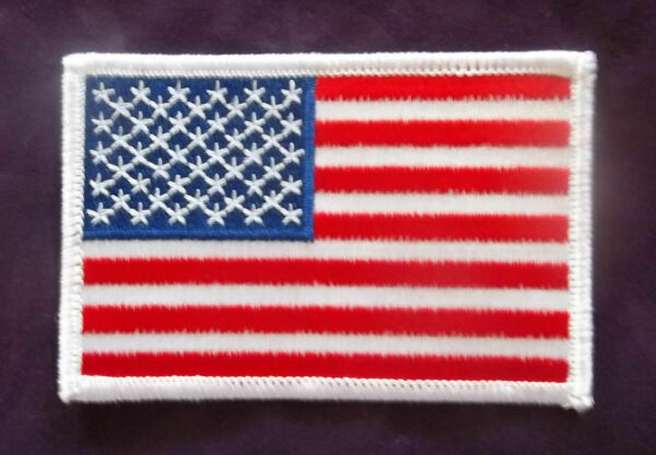 U.S. FLAG PATCH AMERICAN FLAG PATCH USA MILITARY POLICE FIRE SEW IRON ON DIY