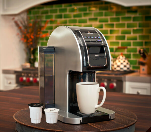 Touch Single Serve CoffeeTea Brewer w 12 K-Cups T414S Keurig Compatible