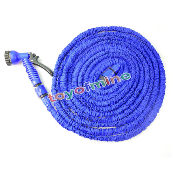 25 50 75 100 FT Expanding Flexible Garden Water Hose with Spray Nozzle
