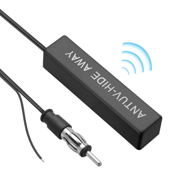 Car Radio Stereo Hidden Antenna Stealth FM AM For Vehicle Truck Motorcycle Boat $6.59